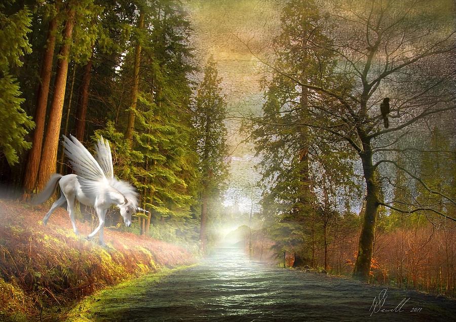 Unicorn In The Morning Digital Art
