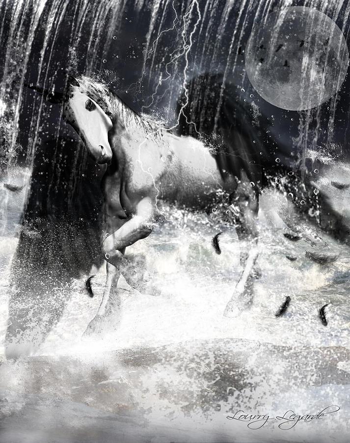 Unicorn Photograph - Unicorns Complexities by Lourry Legarde