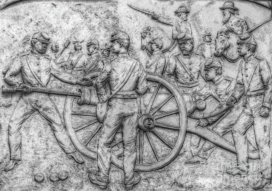 Cemetary Ridge Digital Art - Union Artillery Civil War Drawing by Randy Steele