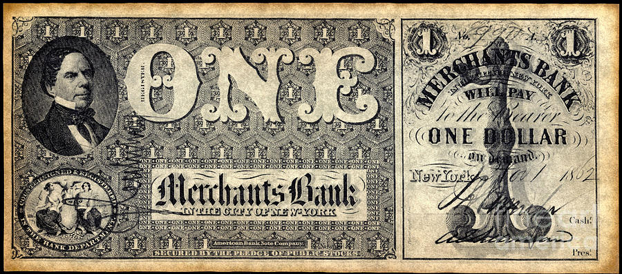 1862 Photograph - Union Banknote, 1862 by Granger