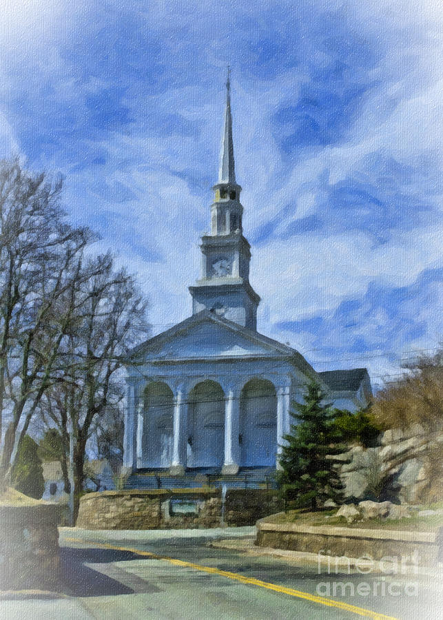 Mystic Photograph - Union Baptist Church by Edward Sobuta