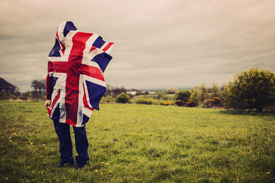 Union Jack On A Hill Photograph by Sally Anscombe