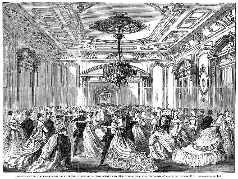 1868 Photograph - Union League Club, 1868 by Granger