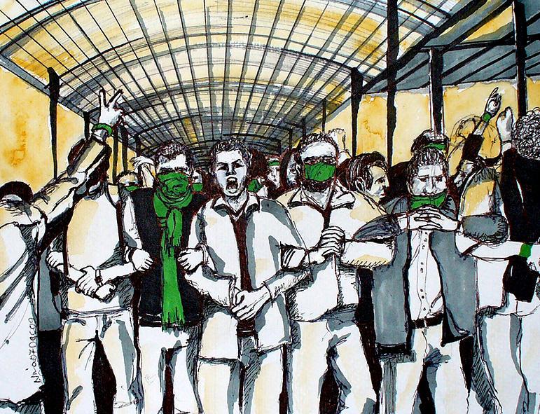 Iran Painting - Union by Nina Mirhabibi