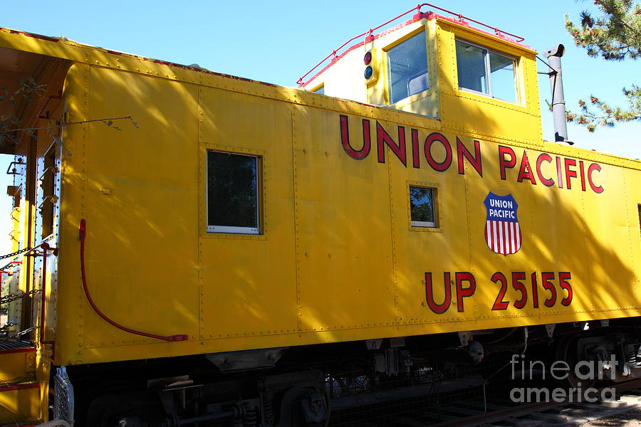 Transportation Photograph - Union Pacific Caboose - 5d19205 by Wingsdomain Art and Photography