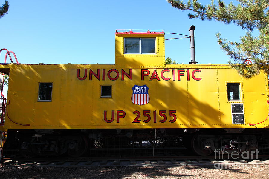 Transportation Photograph - Union Pacific Caboose - 5d19206 by Wingsdomain Art and Photography