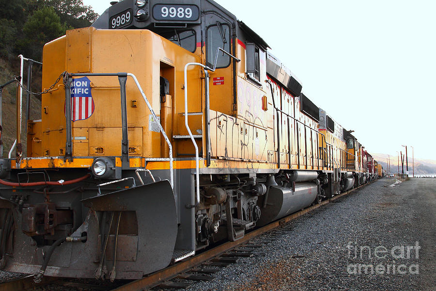 Transportation Photograph - Union Pacific Locomotive Trains . 7d10588 by Wingsdomain Art and Photography