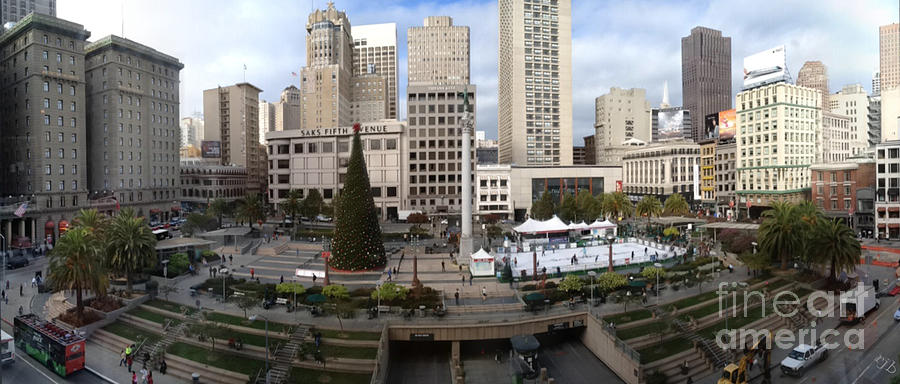 Union Square Digital Art - Union Square Sf by Ron Bissett