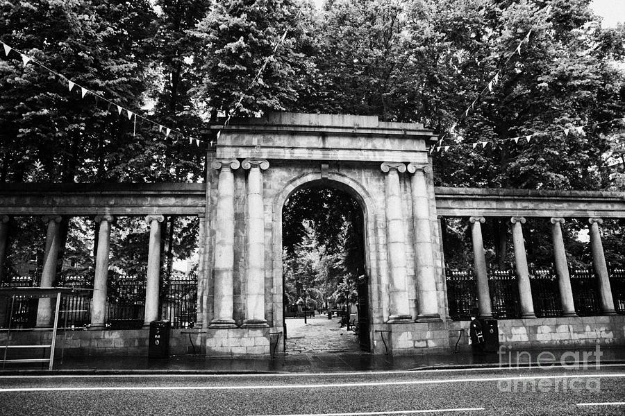 Union Photograph - union street facade to the old kirkyard churchyard o the kirk of St Nicholas aberdeen scotland uk by Joe Fox