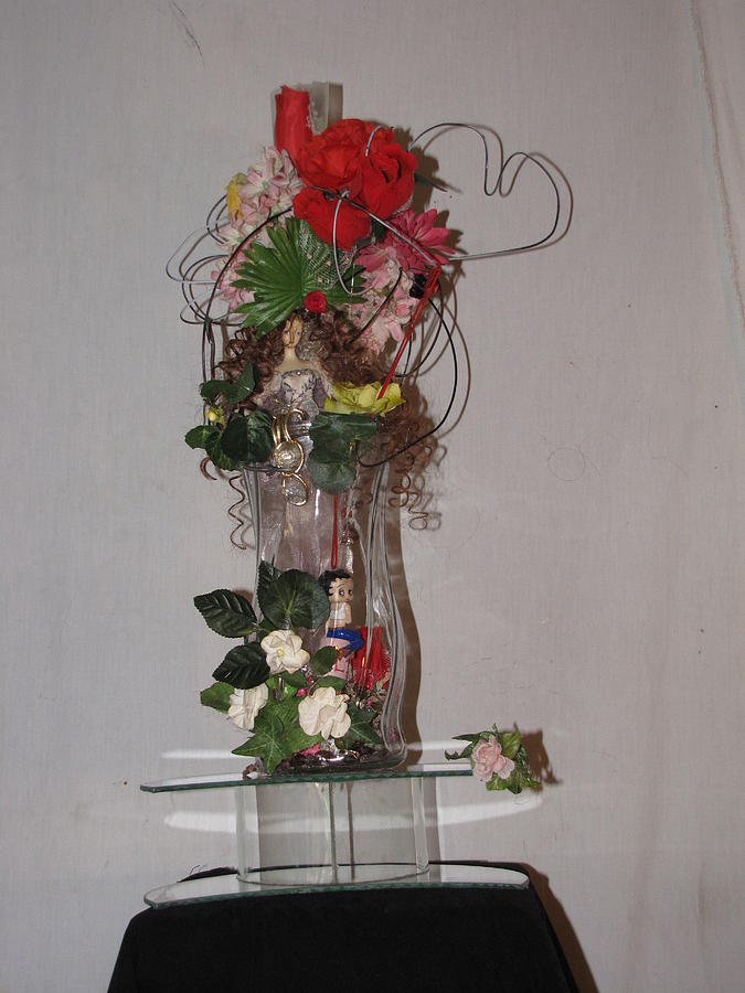 Glass Photograph - Unique Glass Floral Art Piece by HollyWood Creation By linda zanini