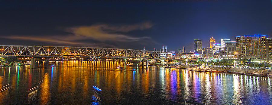 Unique Panorama Of Cincinnati Skyline Photograph By