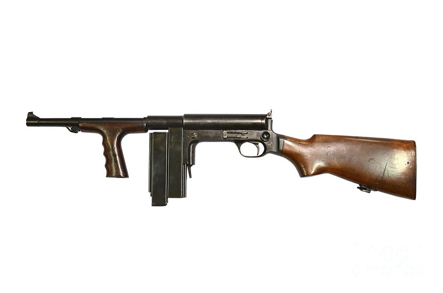 No People Photograph - United Defense M42 Submachine Gun by Andrew Chittock