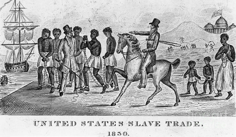 Slavery Photograph - United States Slave Trade by Photo Researchers