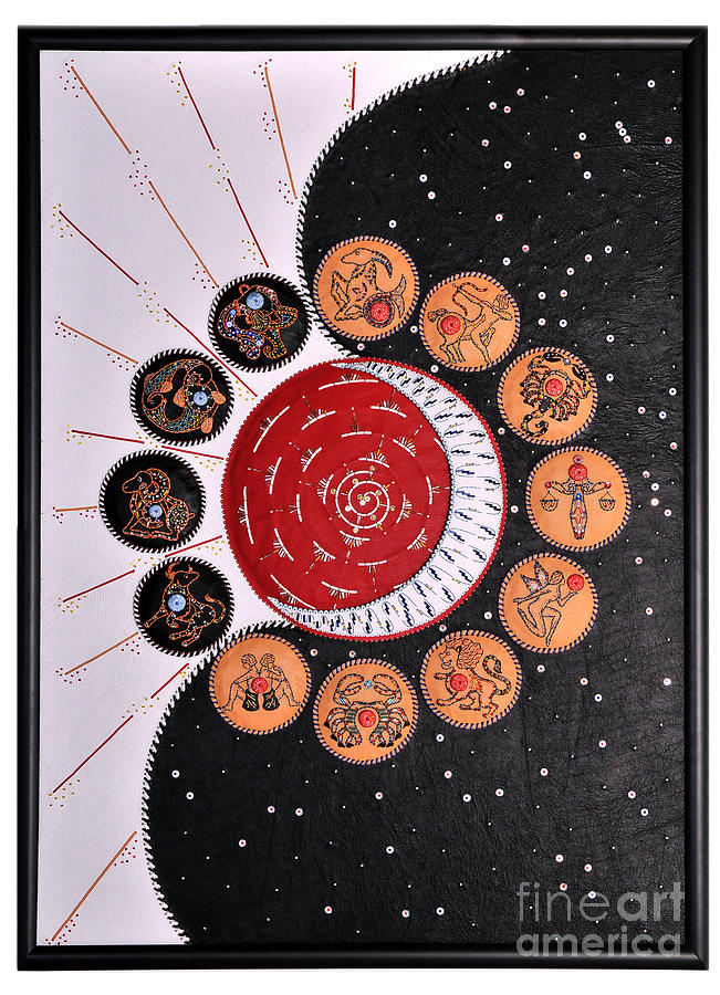 Stars Painting - Universe - Zodiac Signs by Iryna Fedasiuk