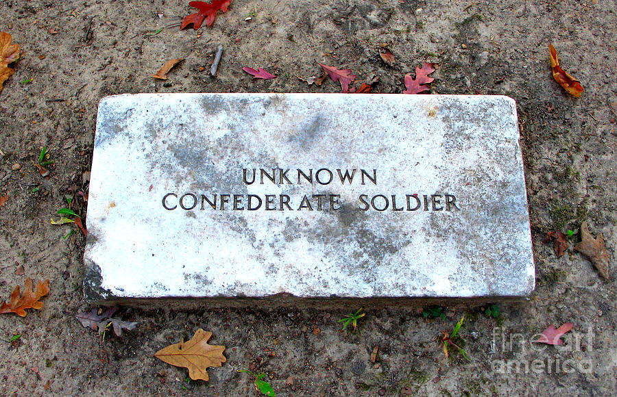 Memorial Photograph - Unknown Confederate Soldier by Renee Trenholm