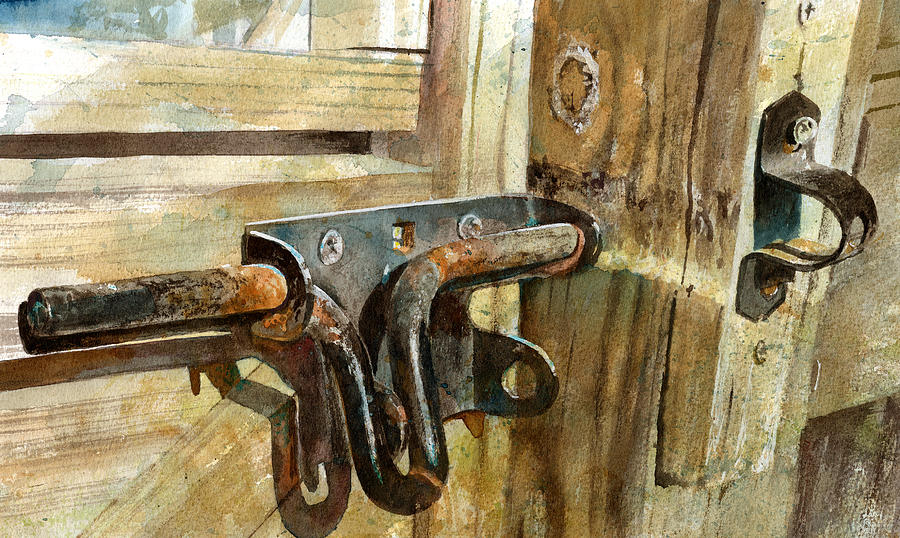 Gate Painting - Unlatched by Andrew King