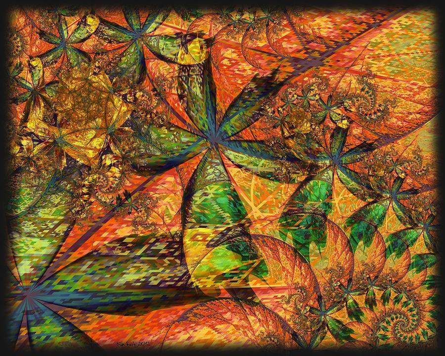 Fractals Digital Art - Unleashed by Kim Redd