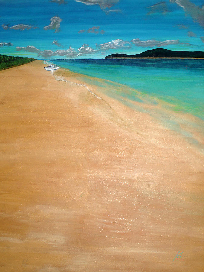 Exotic Vacations Painting - Unspoiled by Lee McCormick