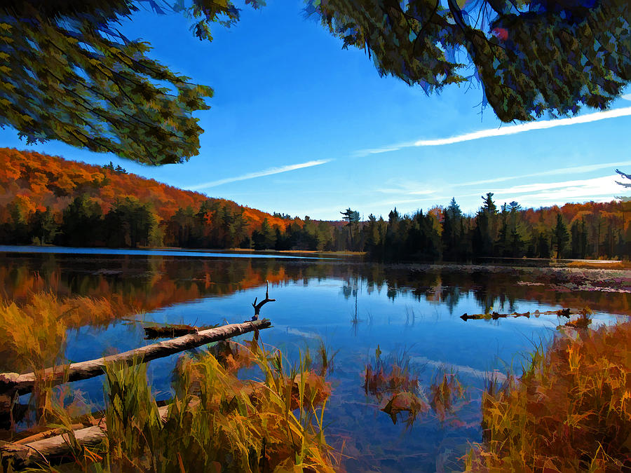Unspoiled Nature - Scenic Autumn Lake Reflection ...