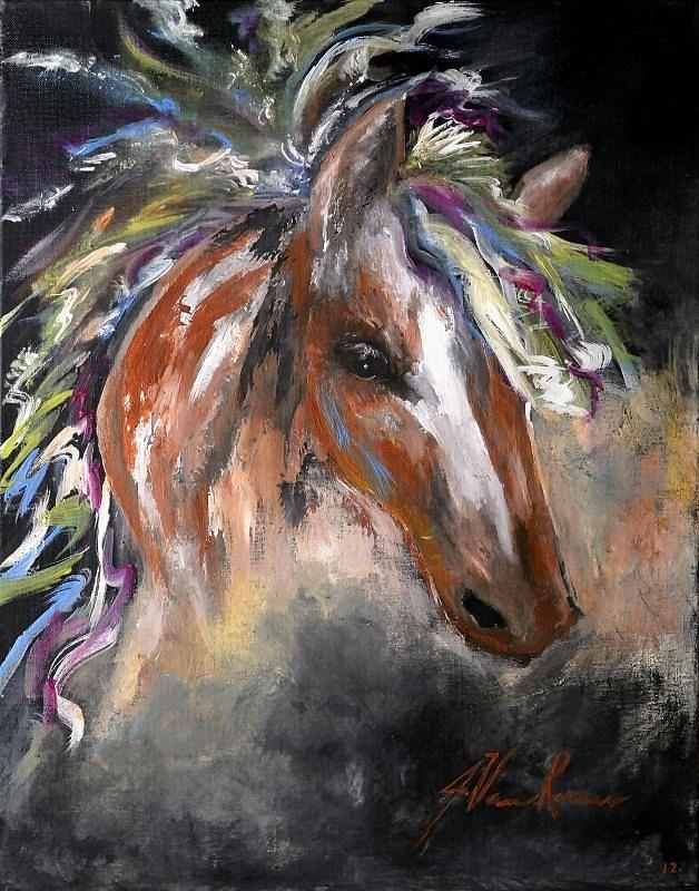 Untamed Painting by Jim Van Romer