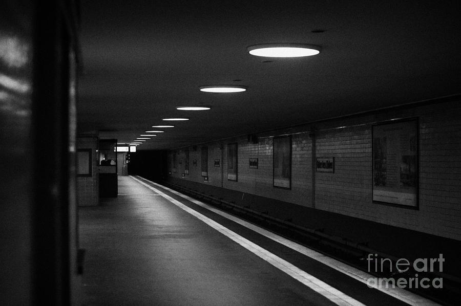 Berlin Photograph - Unter Der Linden Ghost Station U-bahn Station Berlin Germany by Joe Fox