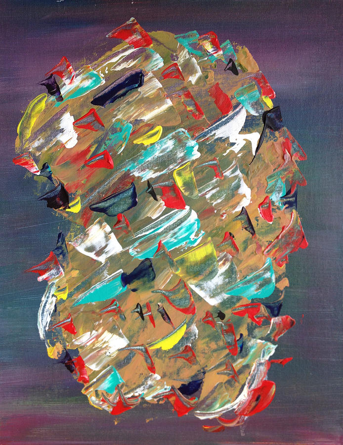 Multi-colored Painting - Untitled 1 by Tony Allison