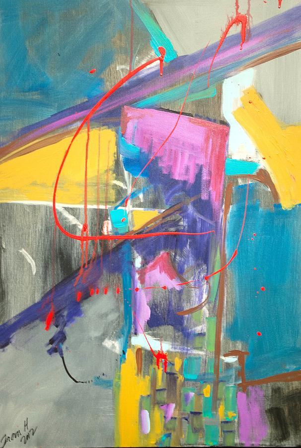 Abstract Painting - Untitled 1 by Travis Hart