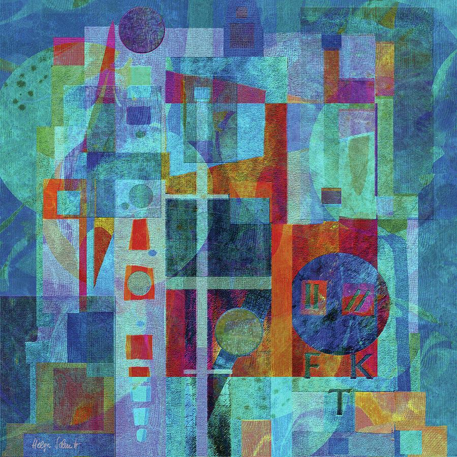Abstract Digital Art - Untitled by Helga Schmitt