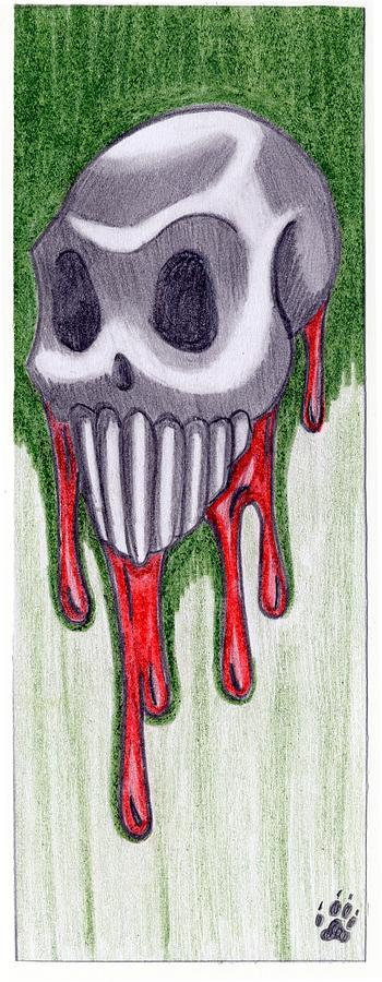 Skull Drawing - Untitled  by Kaitlyn Cappucci