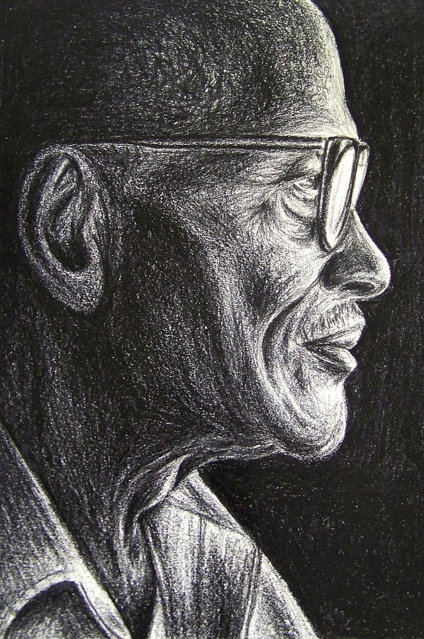 Old Man Drawing - Untitled by Reginald Charles Adams