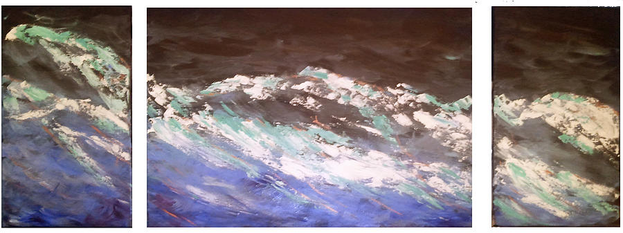 Storm Painting - Untitled Triptic by Lane Owen