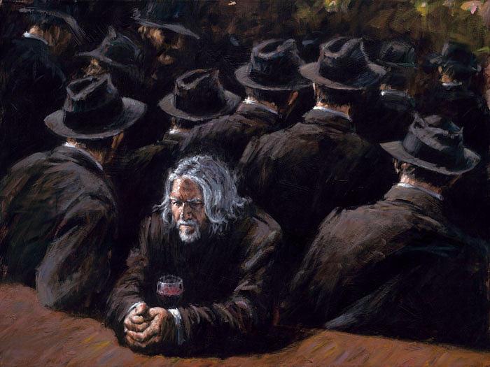 Perez Painting - Untittled II by Fabian Perez
