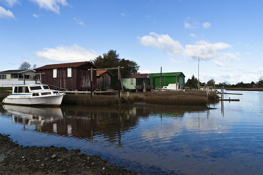 Boat Photograph - Unused Boathouses by Graeme Knox