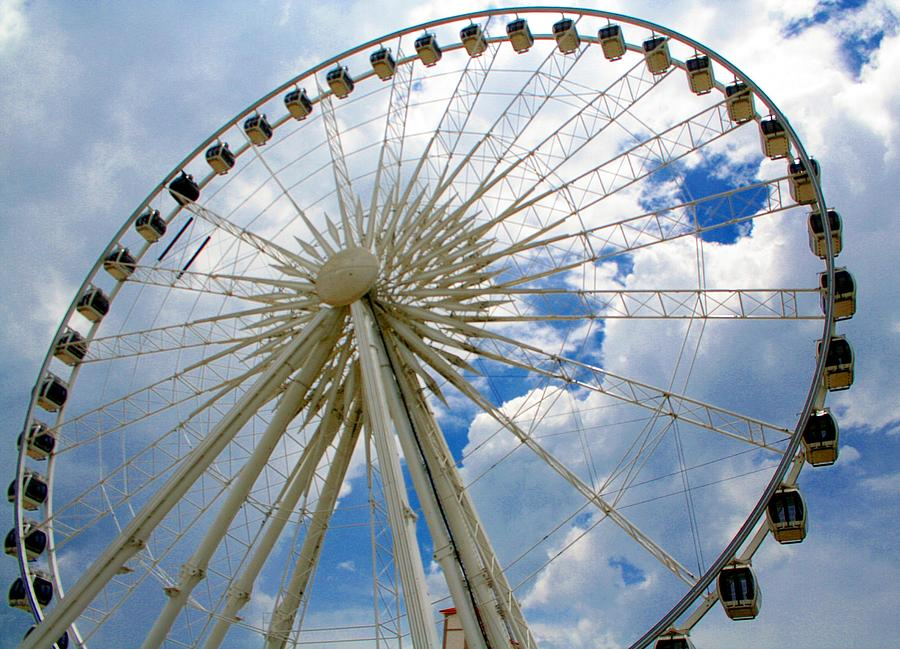 Ferris Wheel Photograph - Up And Away by April Wietrecki Green