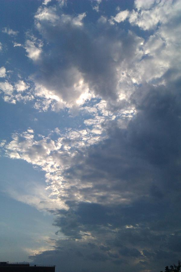 Clouds Photograph - Up And Away by ClockWork Rockawn