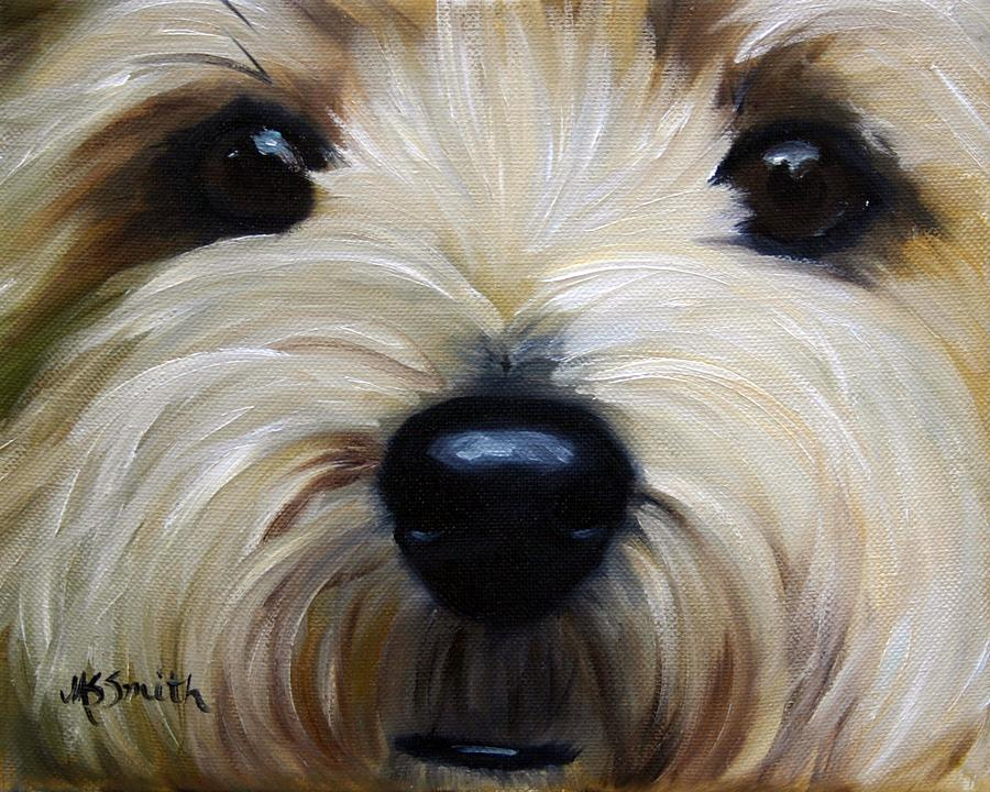 Cairn Terrier Painting - Up Close And Personal IIi by Mary Sparrow