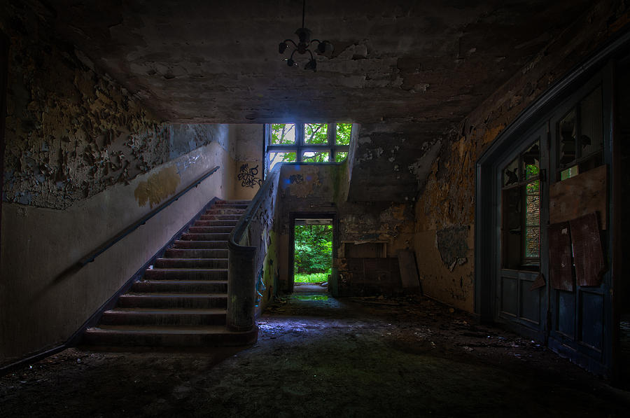 Abandoned Photograph - Up Into The Light by Nathan Wright