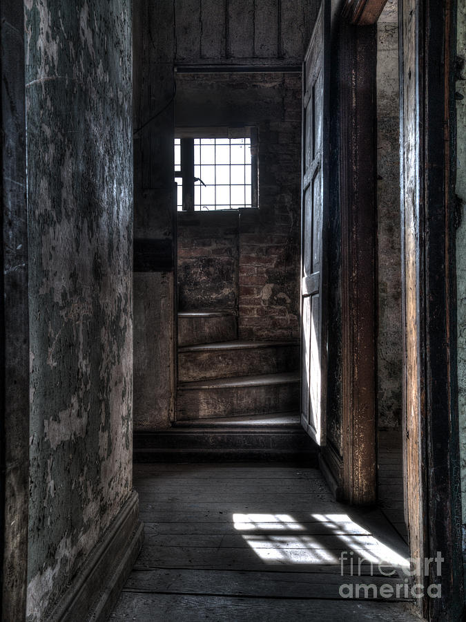 Abandoned Photograph - Up The Stairs by Steev Stamford