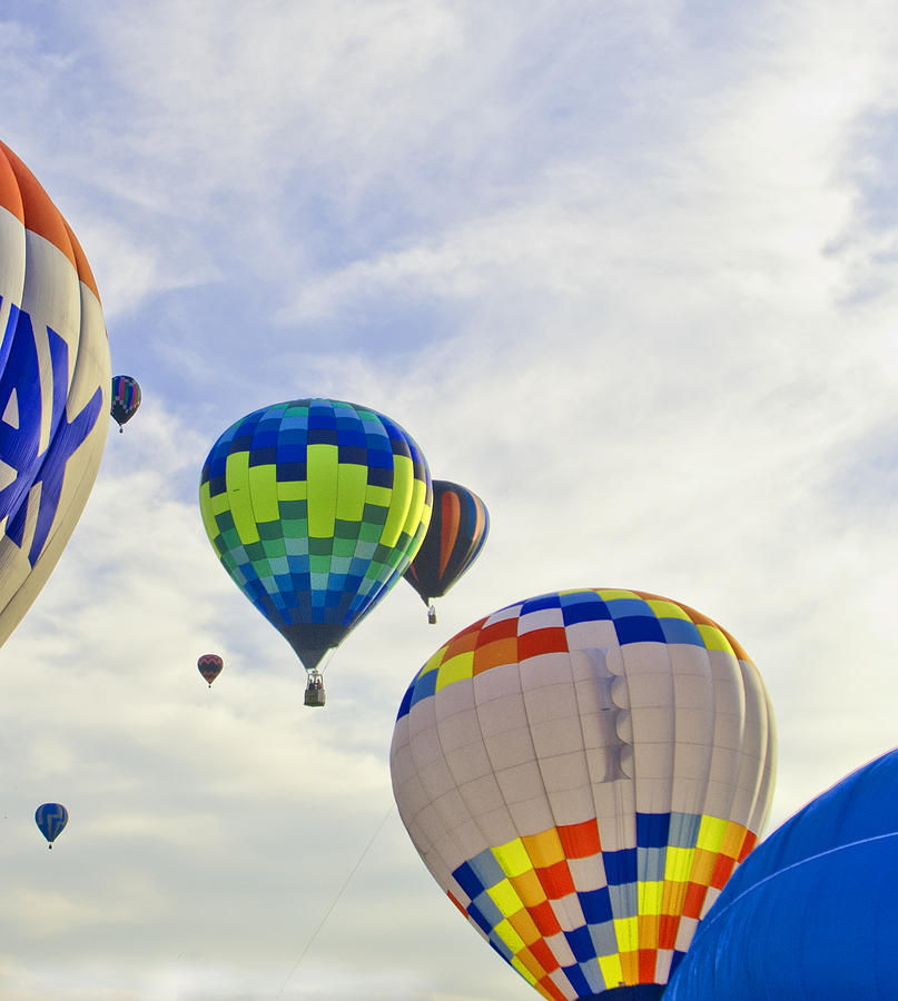Balloons Photograph - Up Up And Away by Carolyn Meuer-Pickering of Photopicks Photography and Art