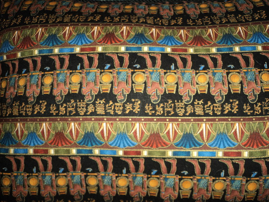 Designs Photograph - Upside Down Egyptian Walk by Anne-Elizabeth Whiteway