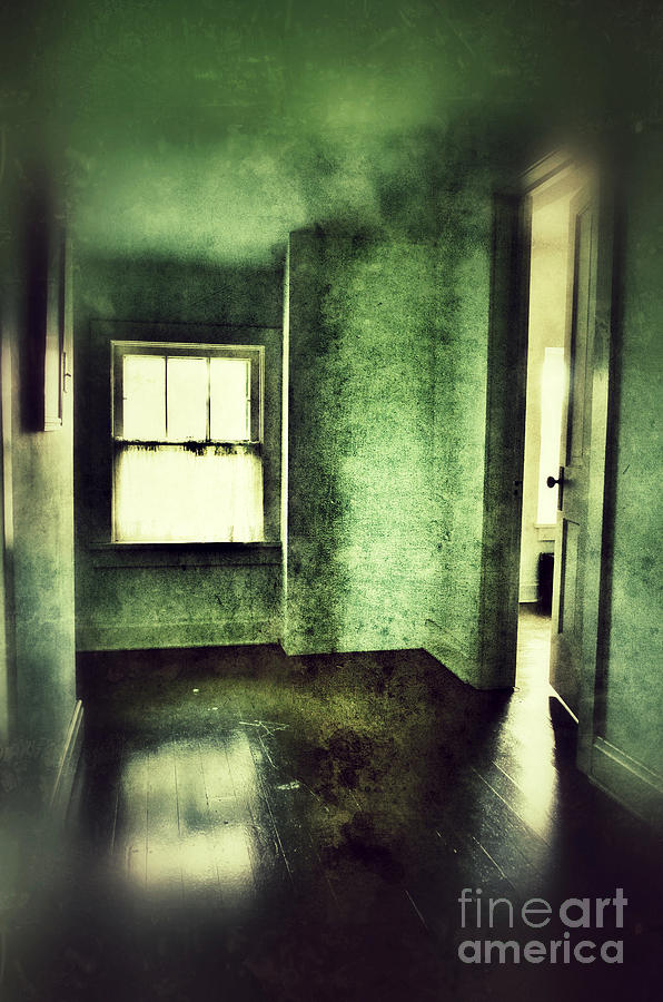 Hall Photograph - Upstairs Hallway In Old House by Jill Battaglia