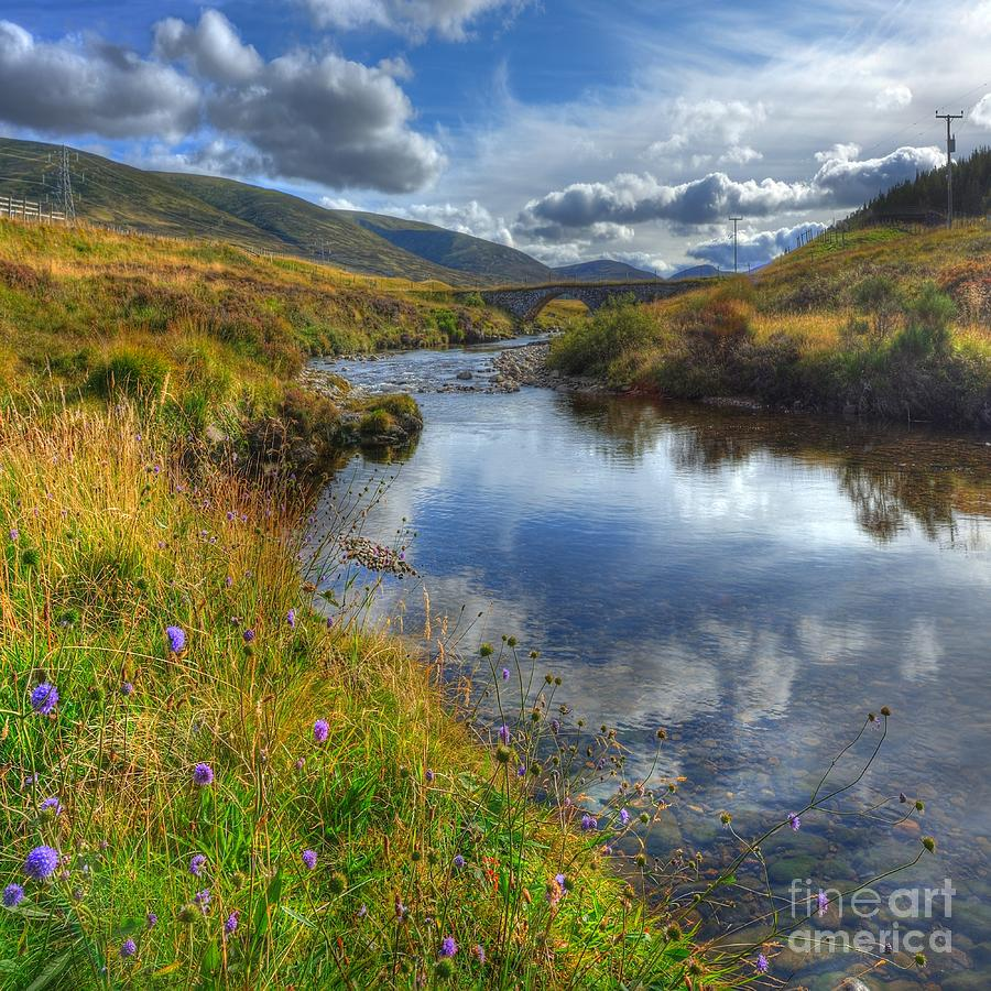 River Photograph - Upstream To The Bridge by John Kelly