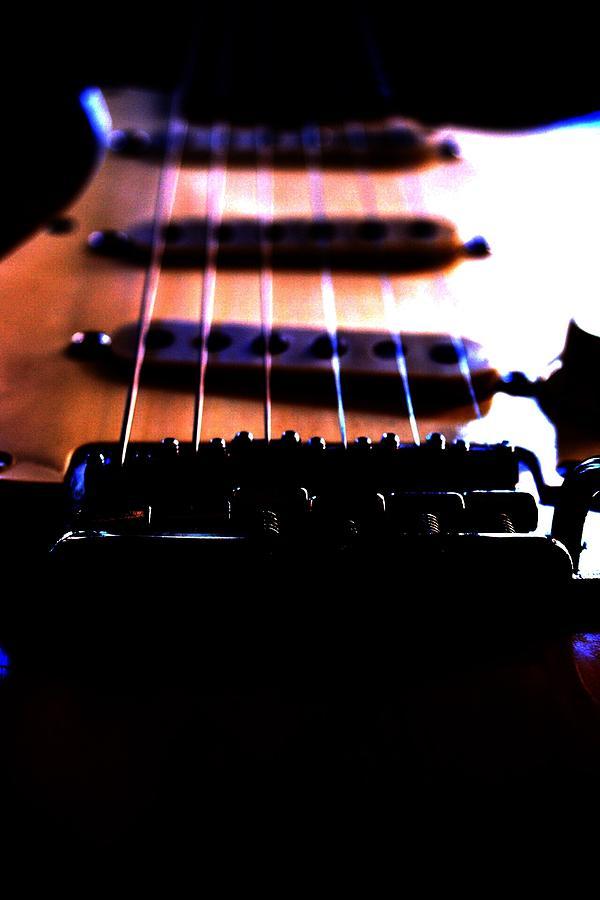 Guitar Photograph - Upstring by Sally Schumacher