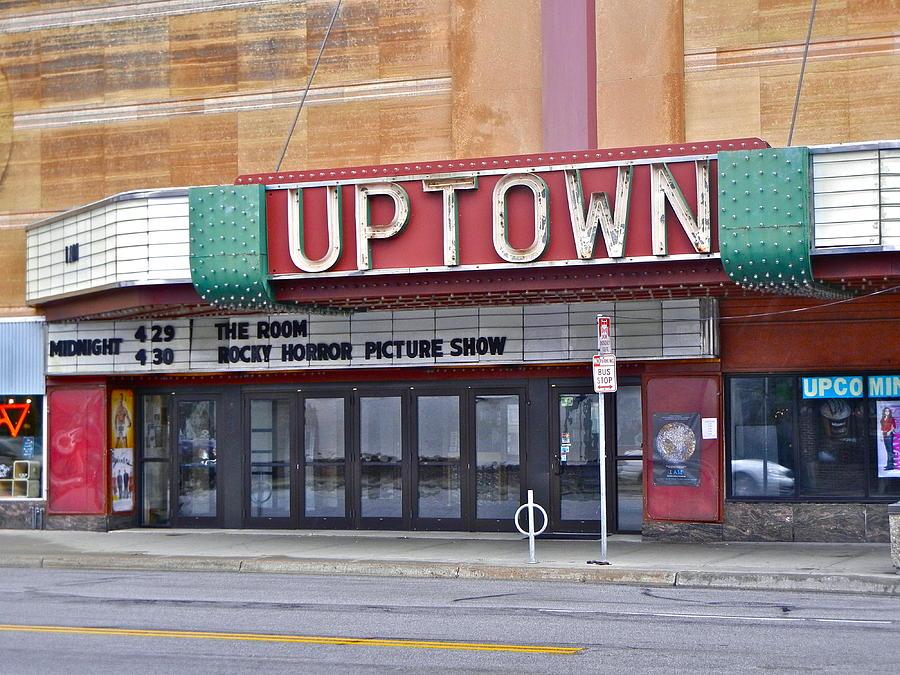 Cinema Photograph - Uptown Theatre by David Ritsema