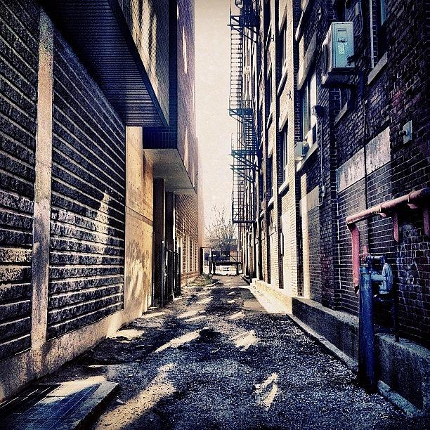 Building Photograph - Urban Alley by Christopher Campbell