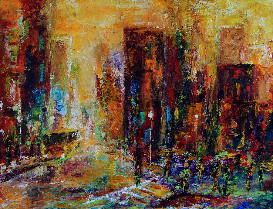 Cityscape Painting - Urban Apparitions by Laura Swink