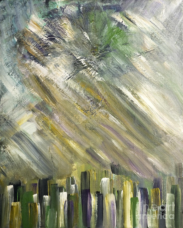 Galleries Painting - Urban City by Marie Christine Belkadi
