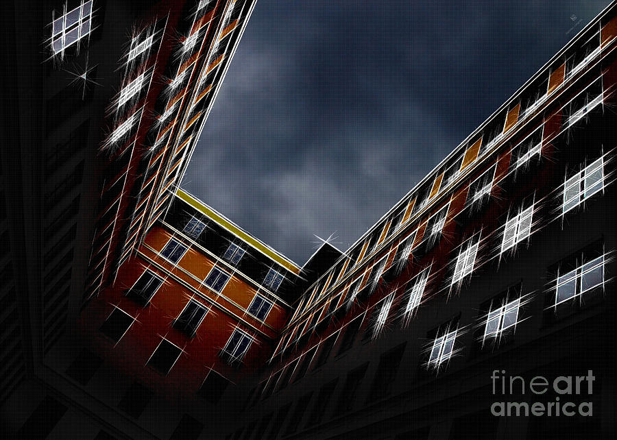 Architecture Photograph - Urban Drawing by Hannes Cmarits