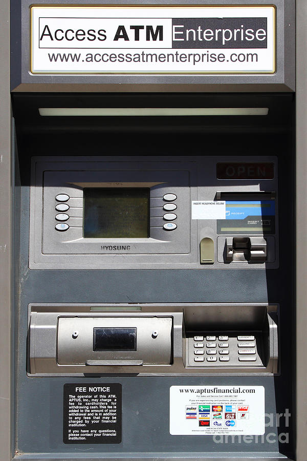 Atm Machine Photograph - Urban Fabric . Automatic Teller Machine . 7d14178 by Wingsdomain Art and Photography