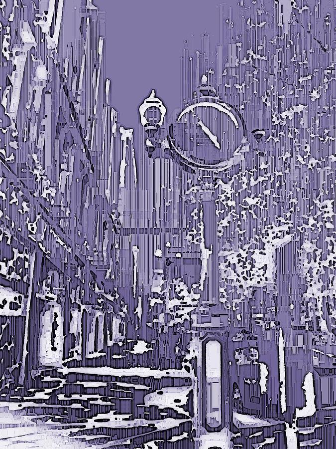 Urban Digital Art - Urban Timepiece by Tim Allen
